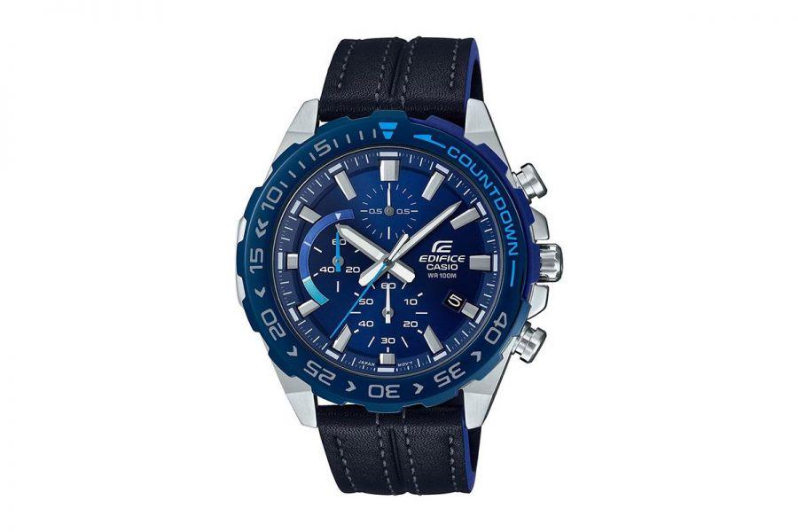 Casio Horloge Heren staal 52mm Edifice EFR-566BL-2AVUEF