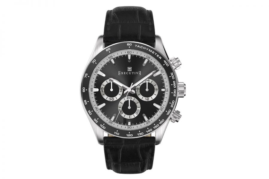Executive Tweed Chronograph Staal 42mm | EX-1018-03