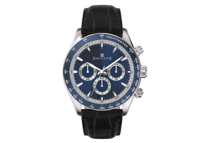 Executive Tweed Chronograph Staal 42mm | EX-1018-04