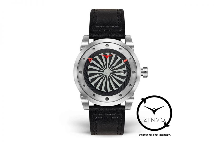 Refurbished Zinvo Blade Rotating Turbine Automatic 44mm Edelstaal | Silver 215