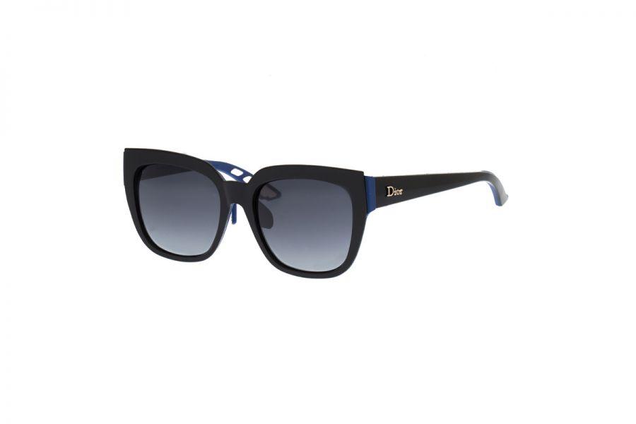 Christian Dior Zonnebril Dames DIORDECALE2F BQ9 BLACK BLUE 55x19x145