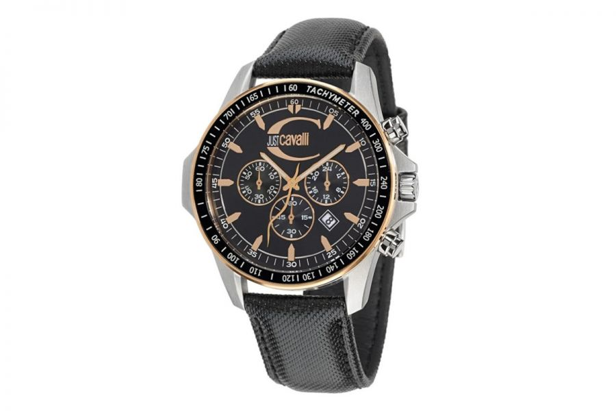 Just Cavalli Actually Chronograph Steel 44mm   R7271693125