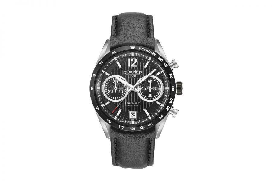 Roamer Superior Chrono II Swiss-Made Chronograaf Staal | 510818 41 54 08