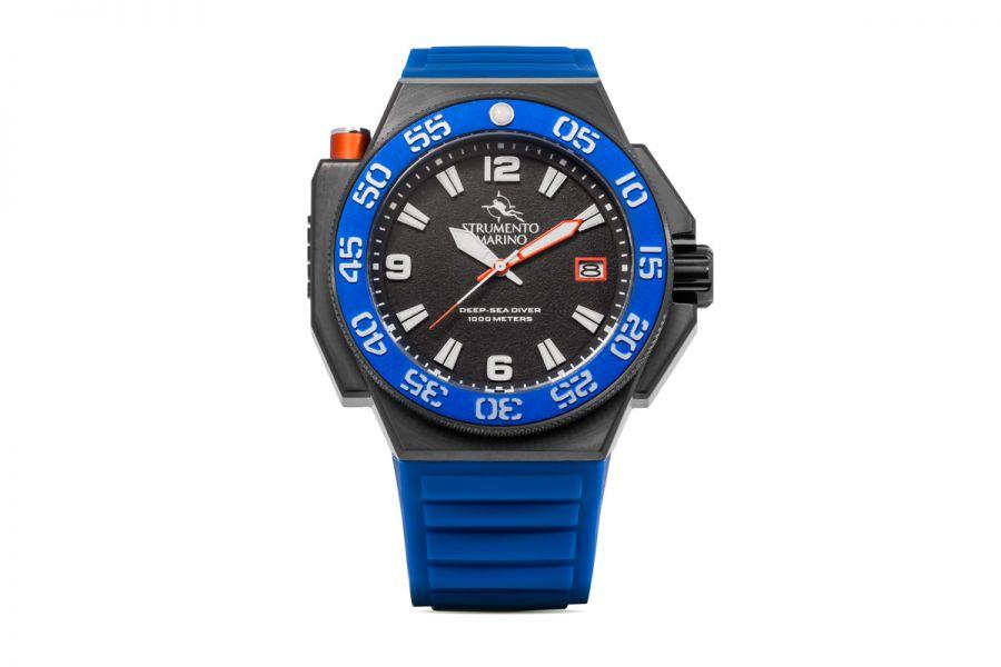 Strumento Marino SM129S-BK-NR-BL Horloge Heren 46MM 100ATM