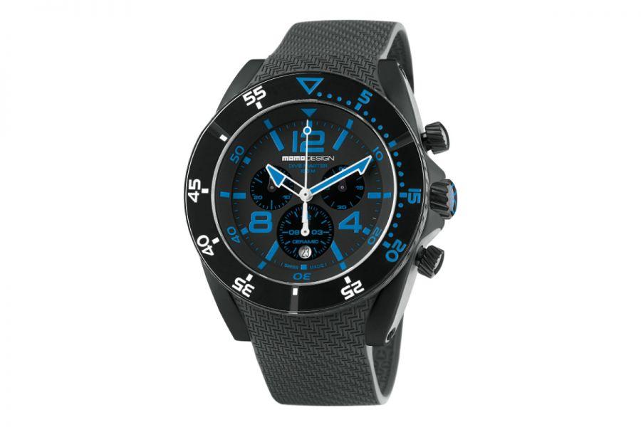 MOMO Design Dive Master MD1281BK-21 Horloge Heren 46 mm 10 ATM