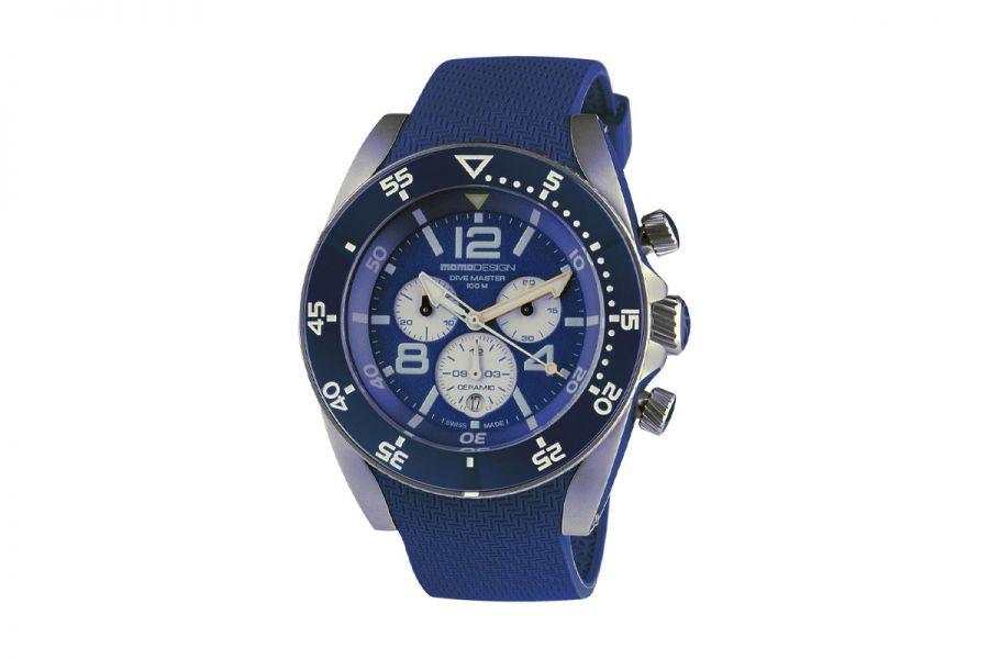 MOMO Design Dive Master MD1281BL-51 Horloge Heren 46 mm 10 ATM