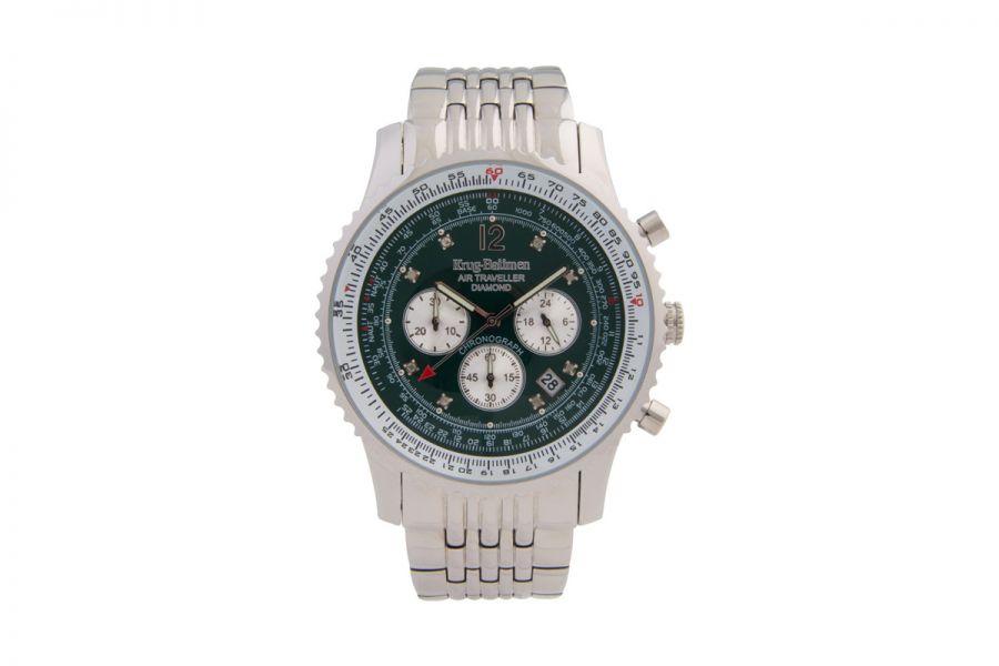 Krug-Baumen Air Traveller Diamond 46mm 600308DS Heren Horloge