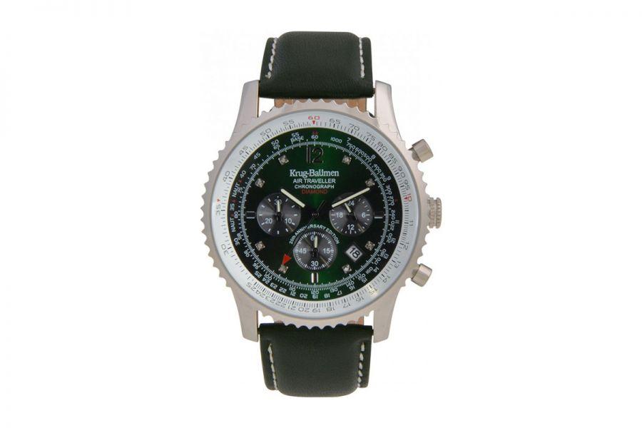 Krug-Baumen Air Traveller Diamond 46mm Anniversary Edition 600506DS Heren Horloge