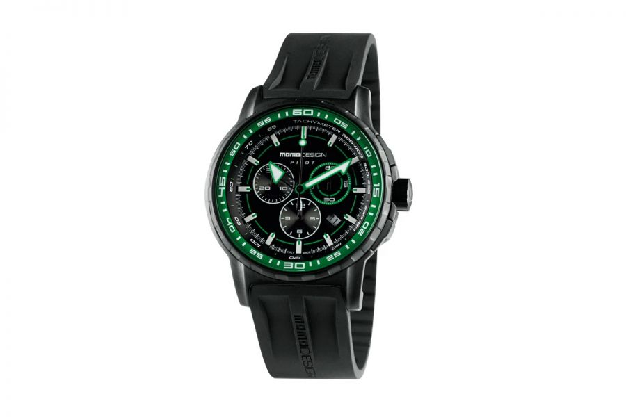 MOMO Design Pilot MD2164BK-31 Horloge Heren 46mm 5 ATM