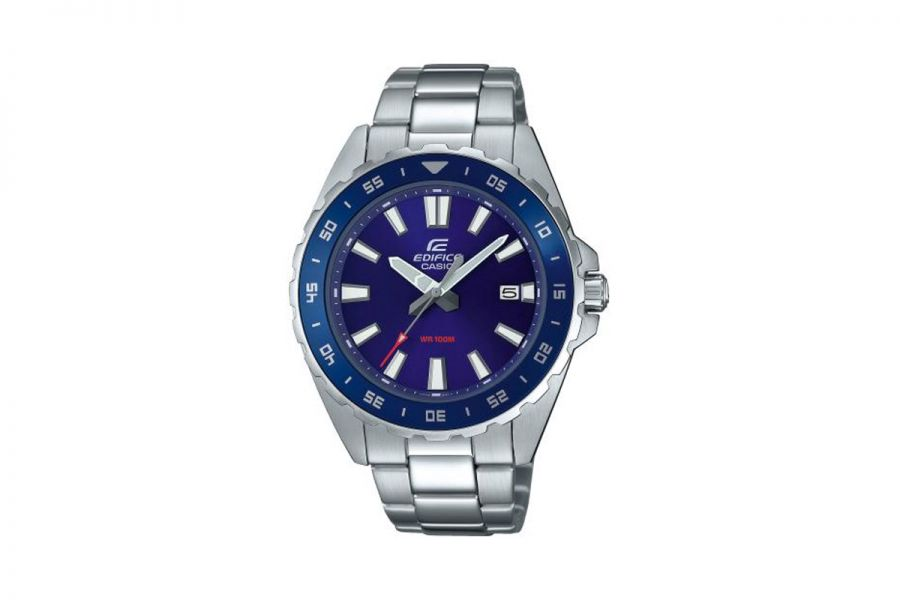 Casio Edifice EFV-130D-2AVUEF Heren Horloge 47mm WR 100mt