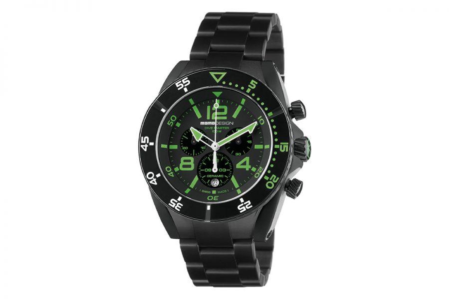 MOMO Design Dive Master MD1281BK-30 Horloge Heren 46 mm 10 ATM