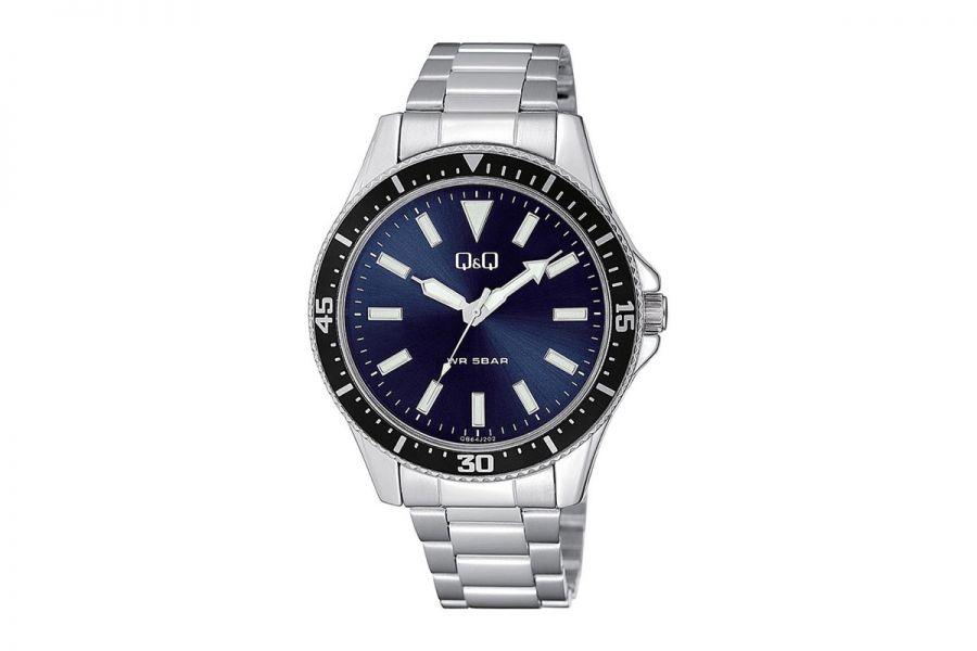 Q&Q Fashion QB64J202Y Horloge Heren 43 mm