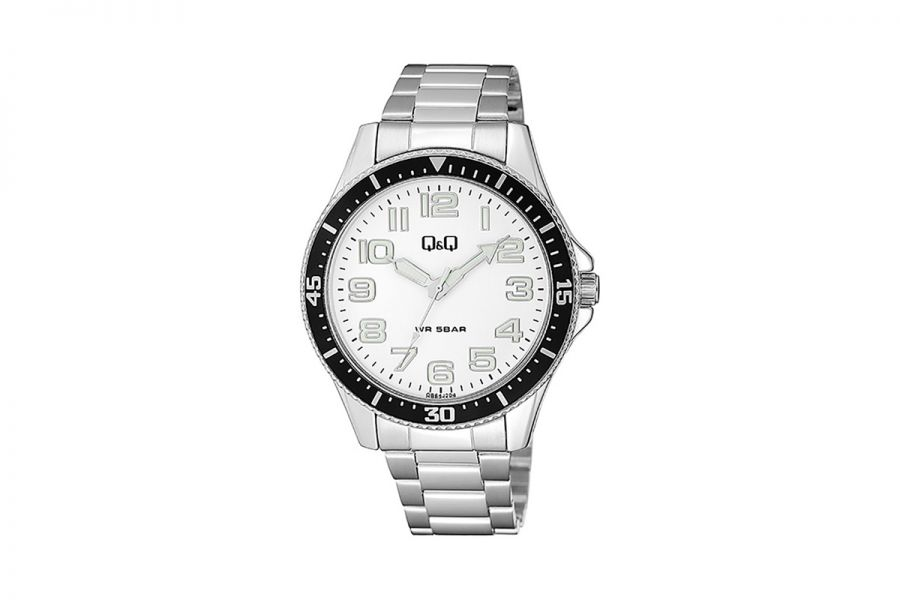 Q&Q Fashion QB64J204Y Horloge Heren 43 mm