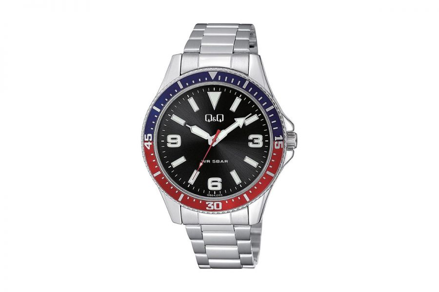 Q&Q Fashion QB64J205Y Horloge Heren 43 mm