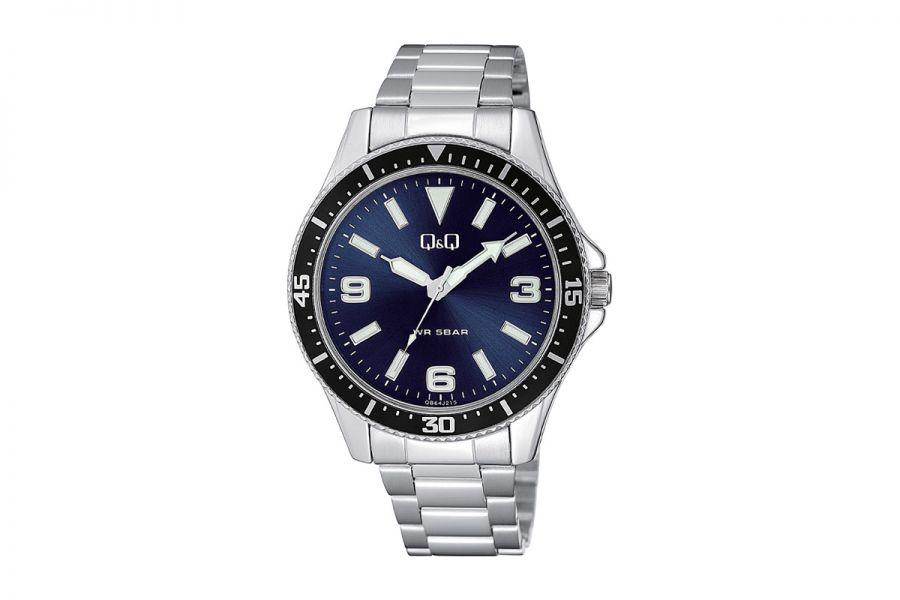 Q&Q Fashion QB64J215Y Horloge Heren 43 mm