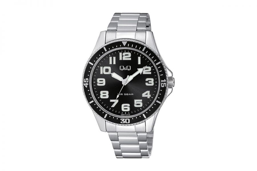 Q&Q Fashion QB64J225Y Horloge Heren 43 mm