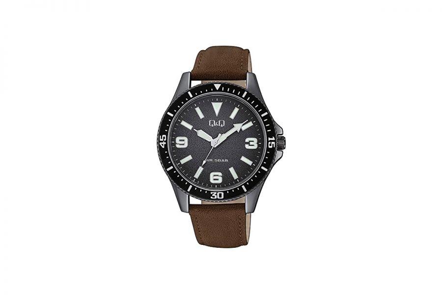Q&Q Fashion QB64J505Y Horloge Heren 43 mm