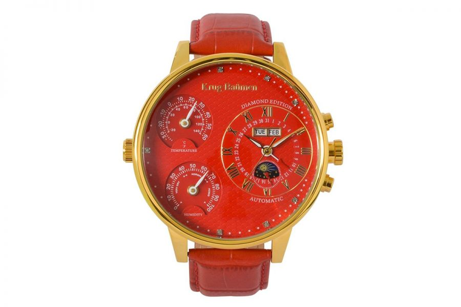 Krug Baumen KBW-200-12 Weather Diamond Heren Horloge 55mm