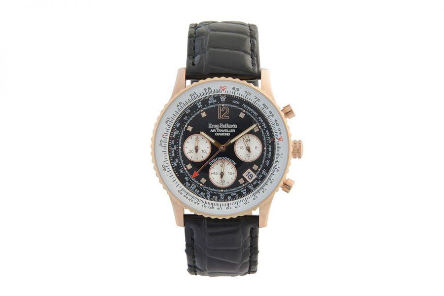 Krug Baumen 400703DS Air Traveller Diamond Heren Horloge 40mm
