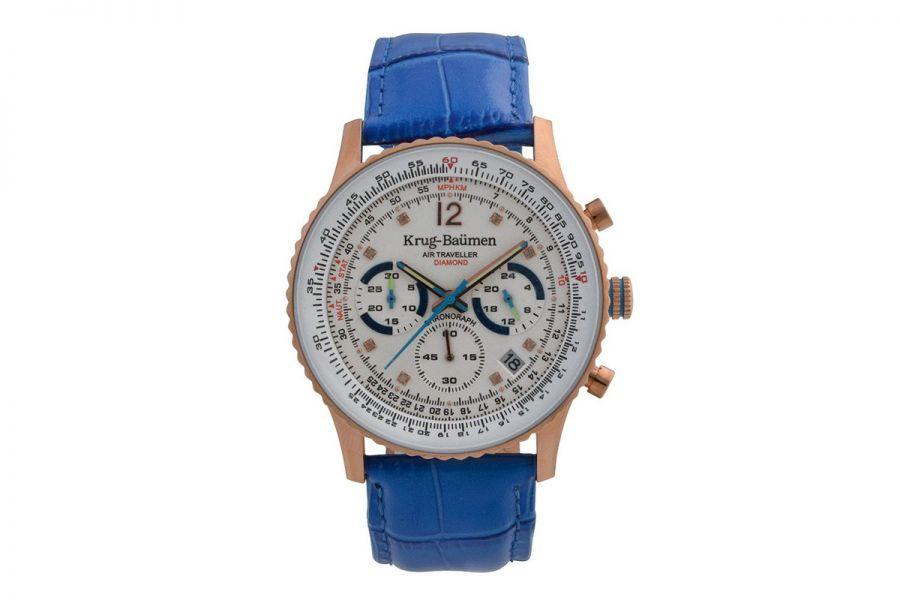 Krug Baumen 410703DS Air Traveller Diamond Heren Horloge 40mm