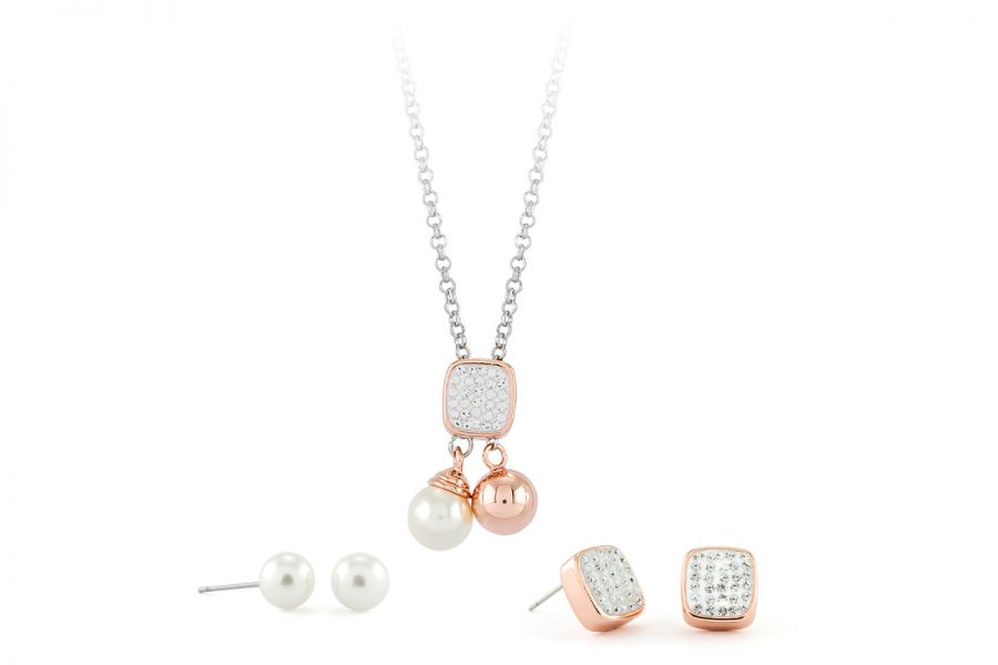 Pierre Cardin Jewellery Set Halsketting & Oorbellen PXX7405