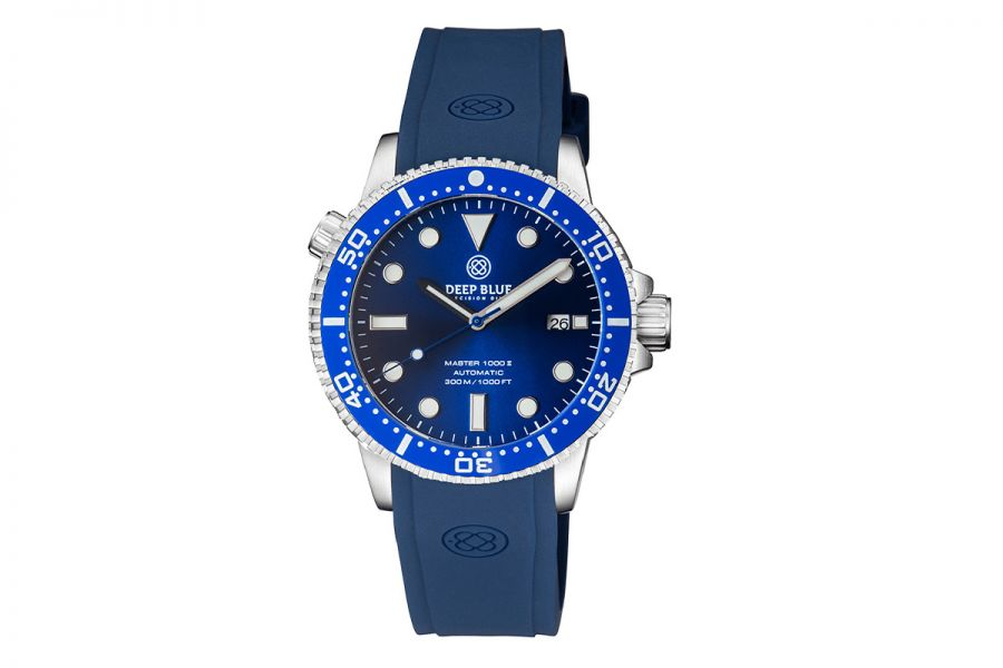 Deep Blue Master 1000 II MSTR442DKBLUBLUSTRP Heren Horloge 44MM 30 ATM