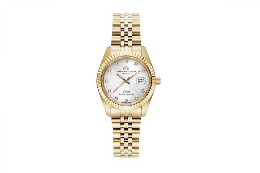 Christophe Duchamp Diamond Elysee dames Horloge 33mm CD7201-4