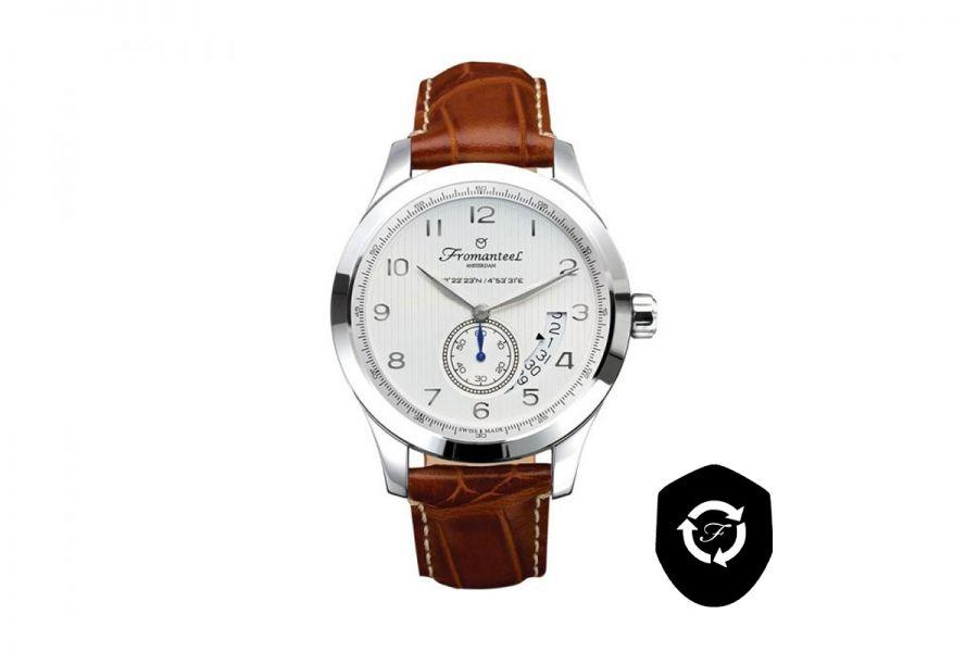 Refurbished Fromanteel Amsterdam Nautique White A-0251-003 Heren Horloge 42mm