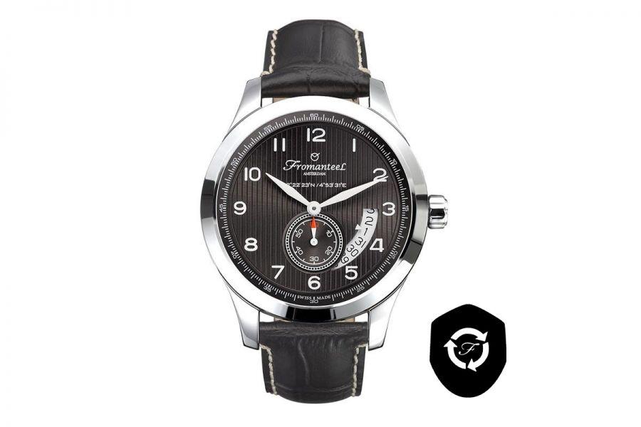 Refurbished Fromanteel Amsterdam Nautique Grey A-0252-001 Heren Horloge 42mm