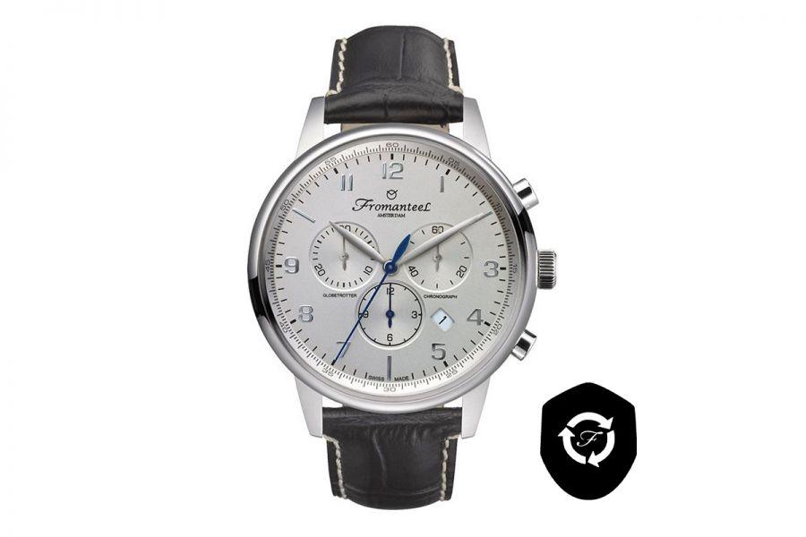 Refurbished Fromanteel Globetrotter Chrono GT-0701-001 Heren Horloge 42mm