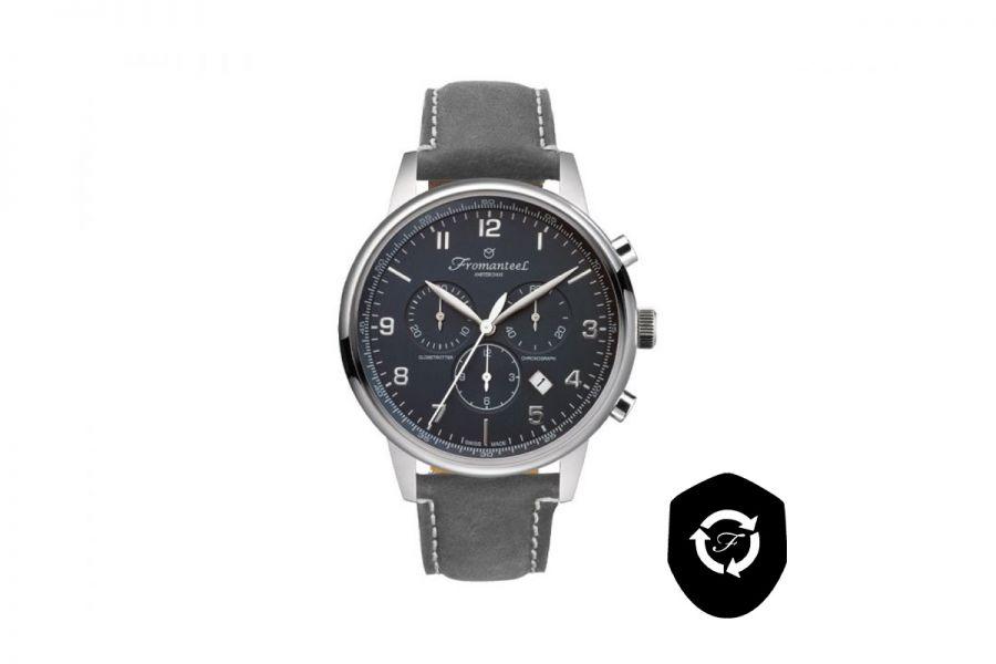 Refurbished Fromanteel Globetrotter Chrono GT-0702-015 Heren Horloge 42mm