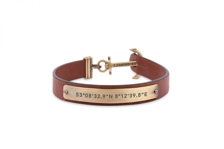 Paul Hewitt PHMSCMBR Armband Leer - Maat L - XL - XXL