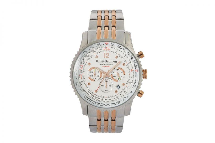 Krug Baümen 610602DS Air Traveller Diamond 46mm Horloge Heren