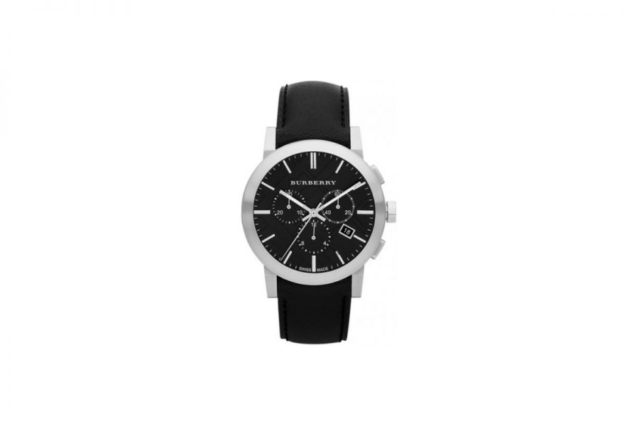 Burberry Chronograph City Men Black Leather 42MM | BU9356