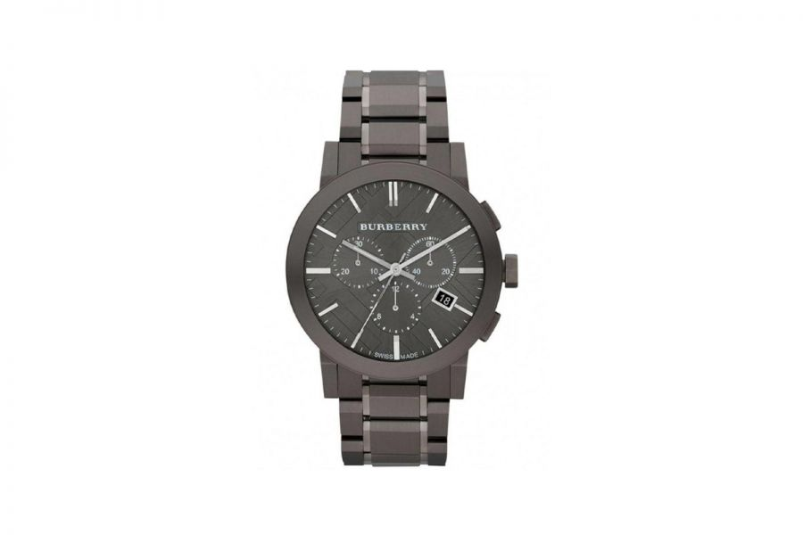Burberry Chronograph City Men Black Staal 42MM | BU9354