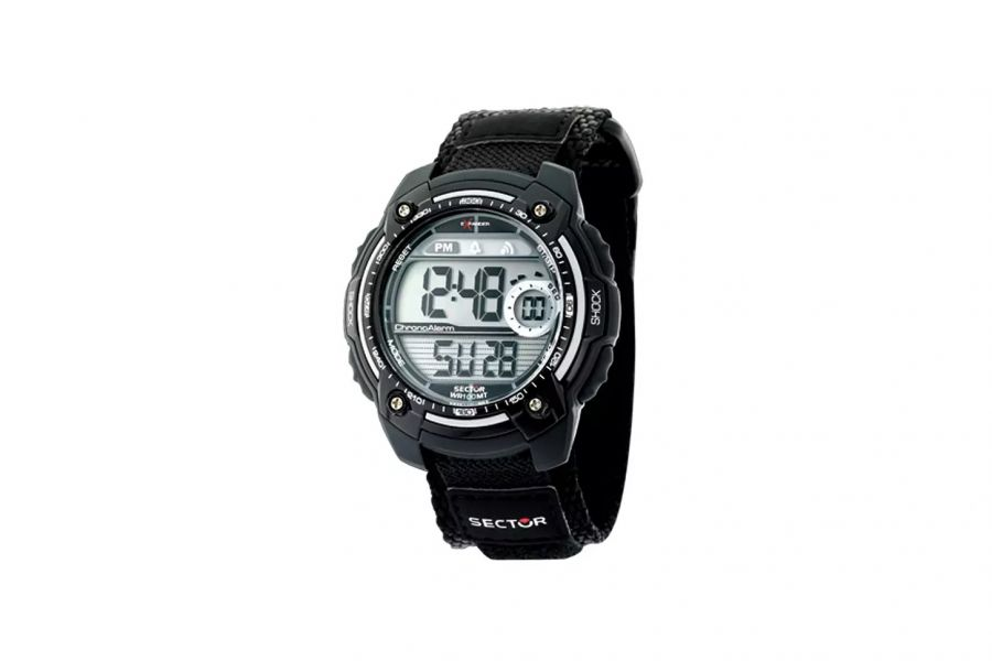 Sector STREET DIGITAL BLACK STRAP SILVER R3251172023