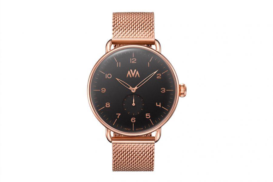 Ava Watches Limited   Rosaguld-Svart