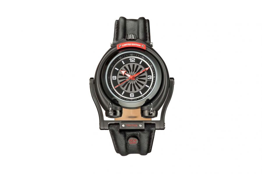 Gevril GV2 Triton Men's Black Dial Calfskin Leather Watch 3401 Heren Horloge