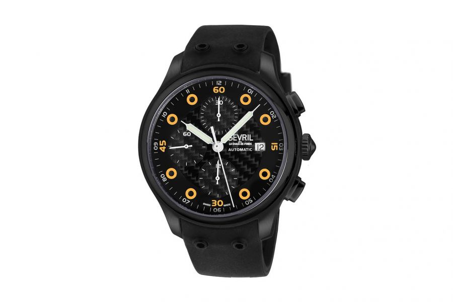 Gevril Men's Canal  St Automatic Chronograph Watch 46103 Heren Horloge