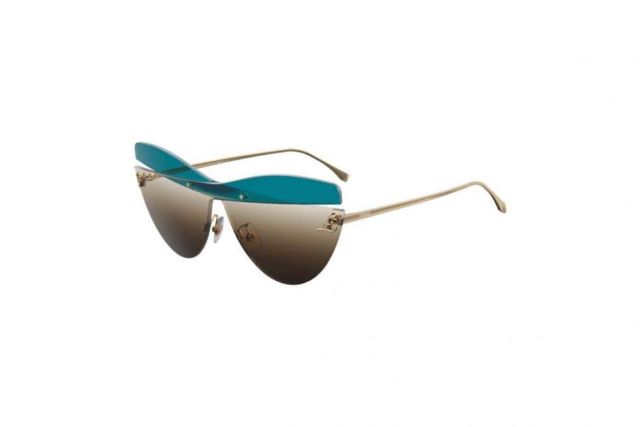 FENDI Zonnebril Dames FF0400/S 3LG BROWN BLUE 99x01x145
