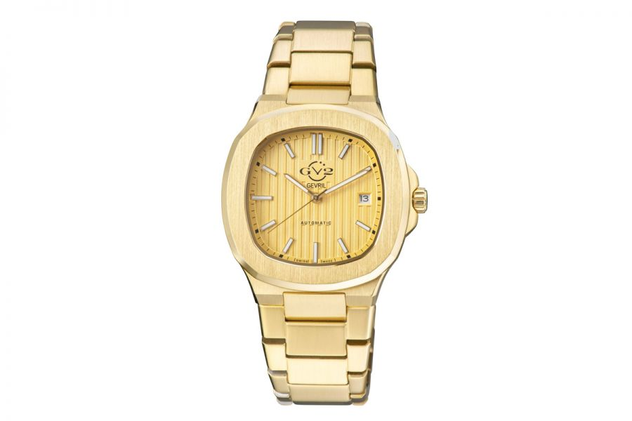 Gevril GV2 Potente Men's Swiss Automatic Gold Stainless Steel 18105