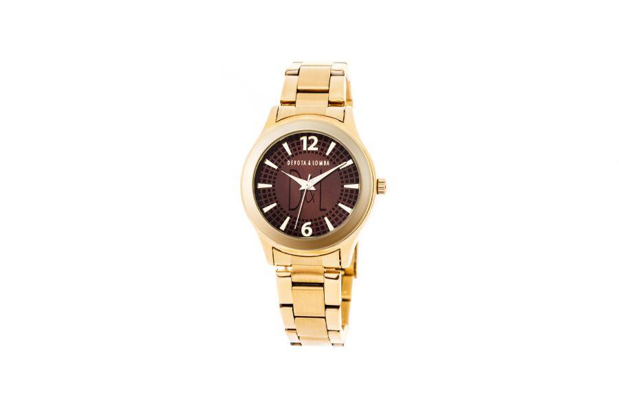Devote & Lomba DL001W-02BROWN Dames Horloge 36mm 5ATM
