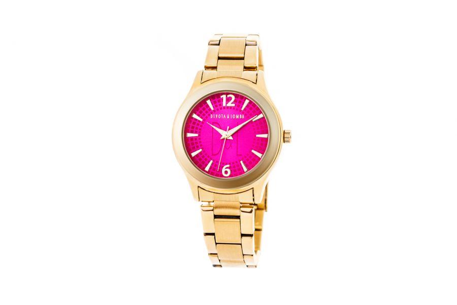Devote & Lomba DL001W-02 FUCHSIA Dames Horloge 37mm 5ATM
