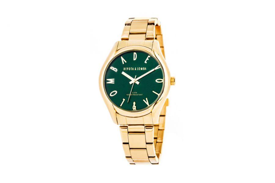 Devote & Lomba DL002U-02GREEN Unisex Horloge 41mm 5ATM