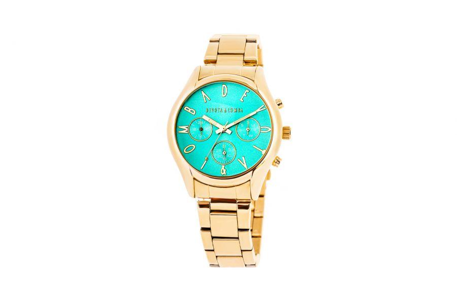 Devote & Lomba DL002UMF-02TURQUESE Dames Horloge 40mm 5ATM
