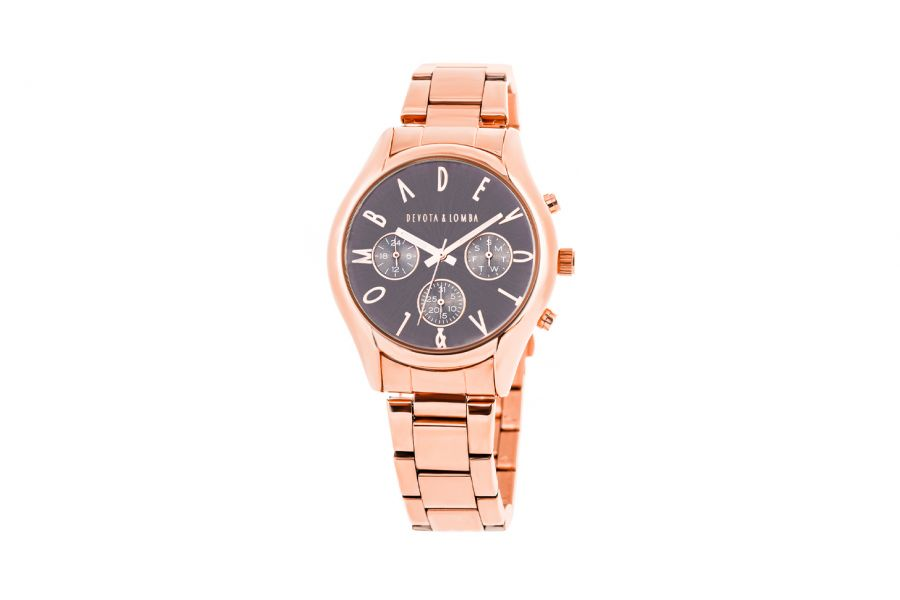 Devote & Lomba DL002UMF-03GREY Heren Horloge 41mm 5ATM
