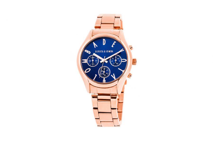 Devote & Lomba DL002UMF-03MARINE Heren Horloge 41mm 5ATM