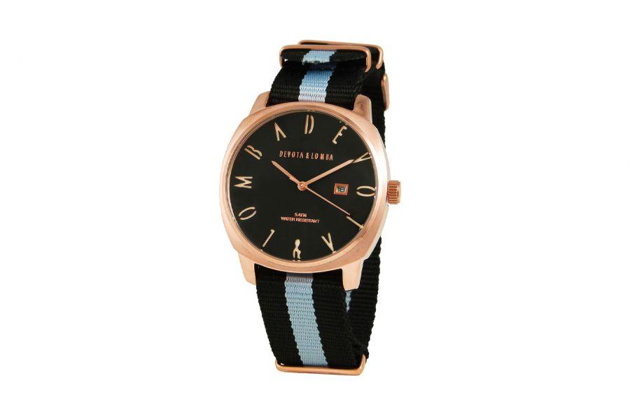 Devote & Lomba DL008MSPBK-GR-03BLACK Heren Horloge 42mm 5ATM