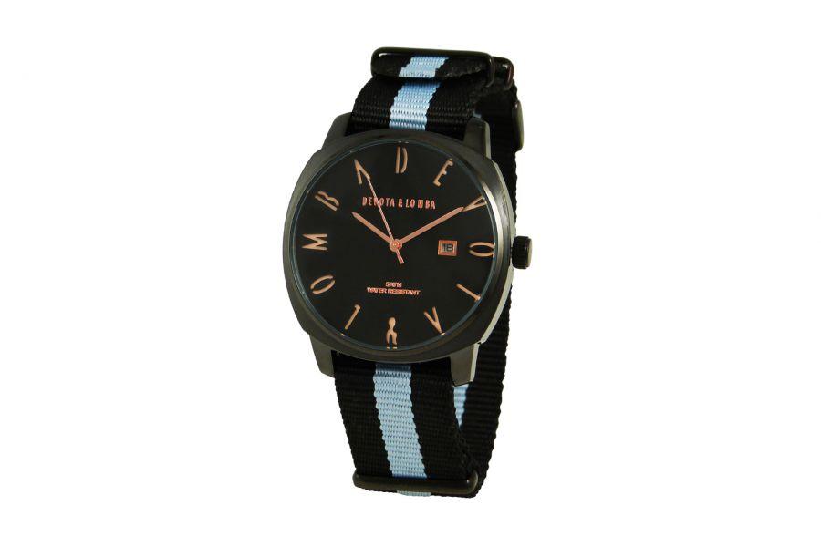 Devote & Lomba DL008MSPBKGR-04BLACK Heren Horloge 42mm 5ATM