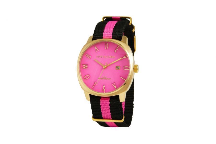 Devote & Lomba DL008MSPBK-PK-02PINK Heren Horloge 42mm 5ATM